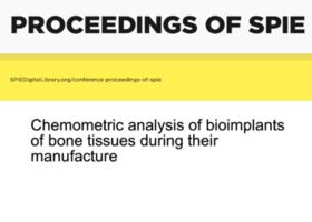 Chemometric analysis of bioimplants of bone tissues during their manufacture
